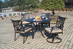 Patio Furniture Dining Set Cast Aluminum 5pc Burlington