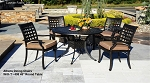 Patio Furniture Dining Set Cast Aluminum 5pc Athens