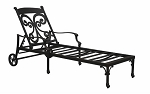 Patio Furniture Chaise Lounge Cast Aluminum Monarch