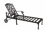 Patio Furniture Chaise Lounge Cast Aluminum Valencia