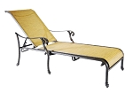 Patio Furniture Cast Aluminum/Sling Chaise Lounge Summit