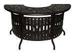 Patio Furniture Party Bar Cast Aluminum Round Intricate Design