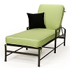 Replacement Cushion Chaise Sunbrella Standard Solids Fabrics