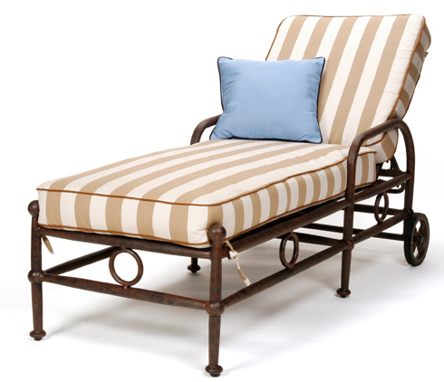 Replacement Cushion Chaise Sunbrella Standard Stripes Fabrics