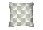 Throw Pillow in Sunbrella Crazy Quilt Seagrass 45973-0001
