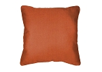 Throw Pillow in Sunbrella Canvas Rust 54010