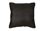 Throw Pillow in Sunbrella Canvas Black 5408