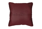 Sunbrella Throw pillow in Canvas Burgundy 5436