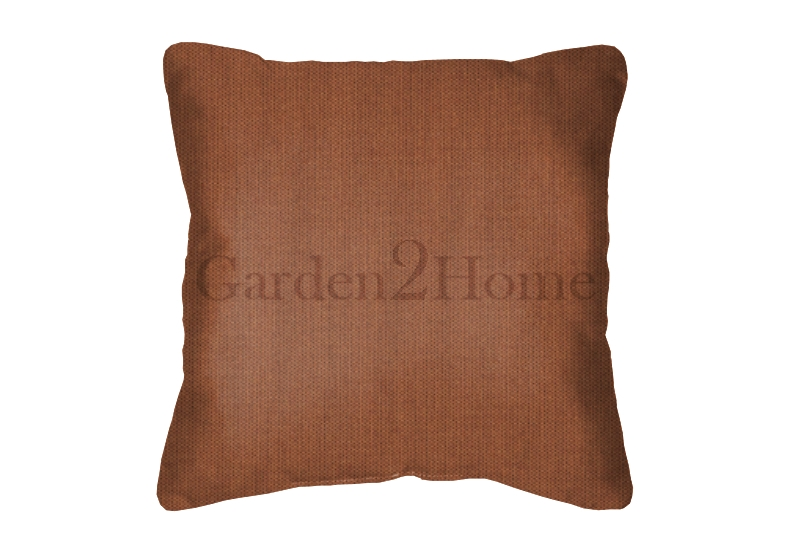 Throw Pillow in Sunbrella Canvas Paprika 5451