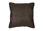 Throw Pillow in Sunbrella Canvas Walnut 5470