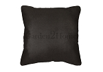 Throw Pillow in Sunbrella Canvas Raven Black 5471
