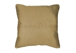 Throw Pillow in Sunbrella Canvas Brass 5484