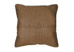 Throw Pillow in Sunbrella Canvas Teak 5488