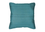 Sunbrella Throw pillow in Dupione Deep Sea 8019