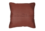 Sunbrella Throw pillow in Dupione Henna 8056