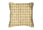 Throw Pillow in Sunbrella Linen Wheat 8315