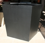 Planter Fiberglass Resin Large Contemporary Tapered Cube