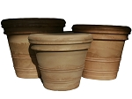 Rolled Rim Planters (Set of 3)