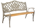 Patio Furniture Bench Traditional Cast Iron Rossette