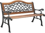 Patio Furniture Bench Traditional Cast Iron Regis Royal