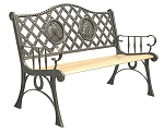 Patio Furniture Bench Traditional Cast Iron Horse