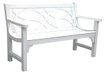 Patio Furniture Bench Aluminum Brentwood