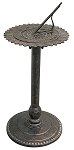 Sundial Cast Aluminum & Iron Sunflower