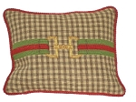 Needlepoint Pillow - H Monogram (18