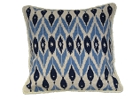 Needlepoint Pillow -  Blue & White (20