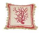 Needlepoint Pillow – Red Coral (20