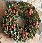 Wreath Dried Magnolia Pomegranates & Twigs