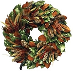 Wreath Dried Magnolia Turkey & Pheasant