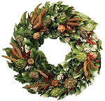 Wreath Dried Magnolia Chilies & Artichokes