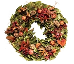 Wreath Dried Magnolia Pods & Pomegranates