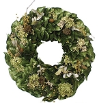 Wreath Dried Magnolia New Woodland Collection