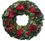 Wreath Fresh Magnolia Clover & Rose Hips