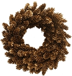 Pinecone Wreath - Gold