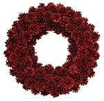 Pinecone Wreath - Red
