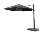 Cantilever Umbrella Aluminum 11-Foot Sunbrella Canvas Black 5408
