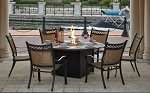 Patio Furniture Dining Set Cast Aluminum/Sling Chairs 60