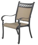Patio Furniture Cast Aluminum/Sling Dining Chairs (Set/2) Mountain View