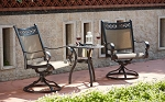 Patio Furniture Cast Aluminum/Sling Bistro Set 3pc Mountain View
