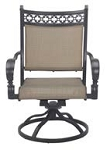 Patio Furniture Cast Aluminum/Sling Swivel Rocker Chairs (Set/2) Mountain View