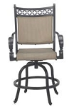 Patio Furniture Cast Aluminum/Sling Swivel Counter Height Pub Chair Mountain View