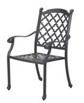 Patio Furniture Chair Dining Cast Aluminum (Set/2) Madsion