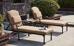 Patio Furniture Chaise Lounge Cast Aluminum 3pc Set Madsion