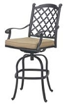 Patio Furniture Bar Stool Swivel Cast Aluminum Madsion