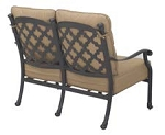 Patio Furniture Deep Seating Loveseat Cast Aluminum Madsion