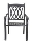 Patio Furniture Chair Dining Cast Aluminum (Set/2) Capri