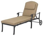 Patio Furniture Chaise Lounge Cast Aluminum Capri